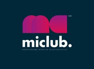miclub ASD logo miclub colori su fondo scuro